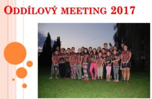 Oddílový meeting 2017